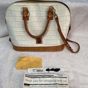 Dooney & Bourke CROCO Embossed Leather Satchel